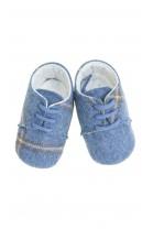 Baby shoes navy blue-and-grey checker, Colorichiari