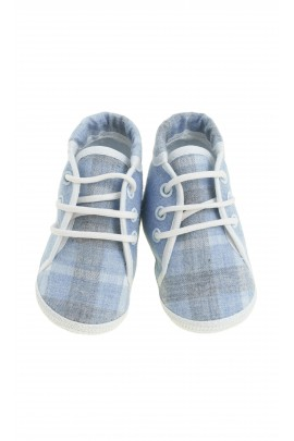Baby shoes navy blue-and-grey checker, Colorichiari