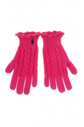 Pink girl gloves, Polo Ralph Lauren