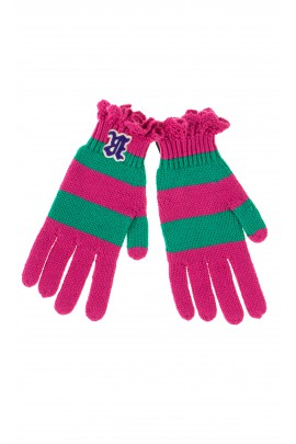 Pink-and-green gloves, Polo Ralph Lauren