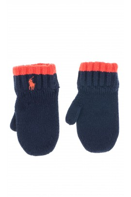 Navy blue-and-red mittens, Polo Ralph Lauren