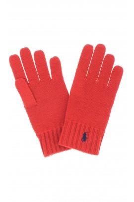 Red boy gloves, Polo Ralph Lauren