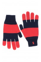Red-and-navy blue boy gloves, Polo Ralph Lauren