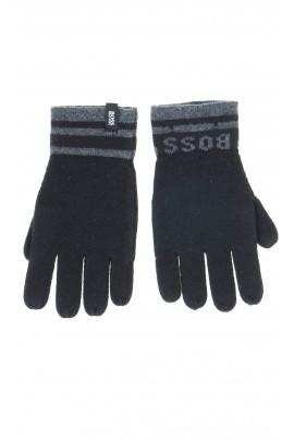 Black gloves. Hugo Boss