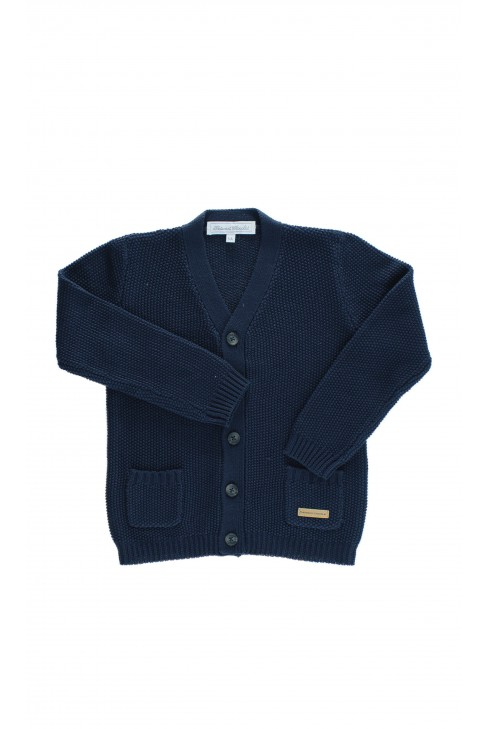 Navy blue boy sweater, Tartine et Chocolat