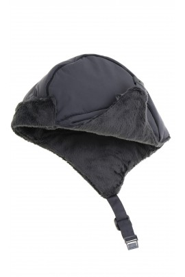 Grey-and-steel aviator hat, Hugo Boss