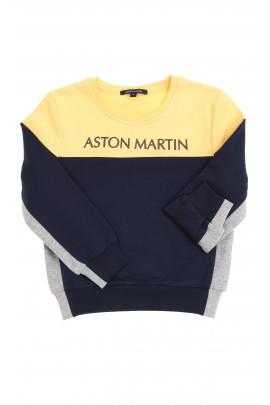 Bluza chłopięca żółto granatowa, Aston Martin
