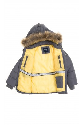 Grey-and-yellow boy jacket, Aston Martin