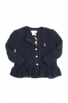Navy blue frilled cardigan, Polo Ralph Lauren
