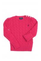 Dark pink sweater plait weave, Polo Ralph Lauren
