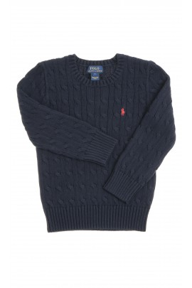 Navy blue sweater plait weave, Polo Ralph Lauren
