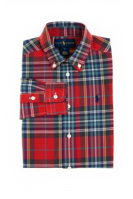 Red boy shirt in checker, Polo Ralph Lauren