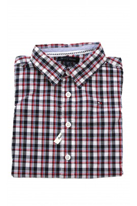 Navy blue and red checked shirt, Tommy Hilfiger