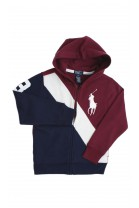 Dark red-navy blue sweatshirt, Polo Ralph Lauren