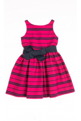 Pink dress in navy blue stripes, Polo Ralph Lauren