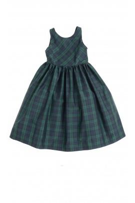 Dress in green-and-navy blue checker, Polo Ralph Lauren