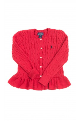 Red frilled sweater, Polo Ralph Lauren