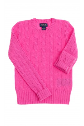 Pink cashmere sweater, Polo Ralph Lauren