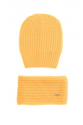 Yellow set - hat and scarf, Aston Martin