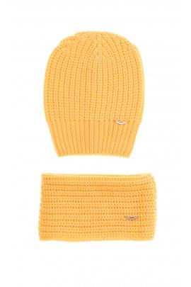 Yellow set - hat and scarf, Aston Martin