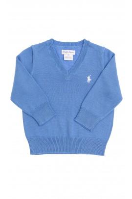Blue sweater V-letter neckline, Polo Ralph Lauren