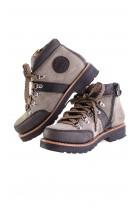 Graphite-black bootees, Gallucci
