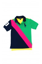 Boys green-pink-navy blue polo shirt, Polo Ralph Lauren