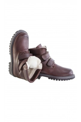 Brown trekking shoes with velcros, Gallucci