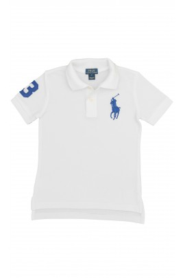 White polo shirt with a blue horse, Polo Ralph Lauren