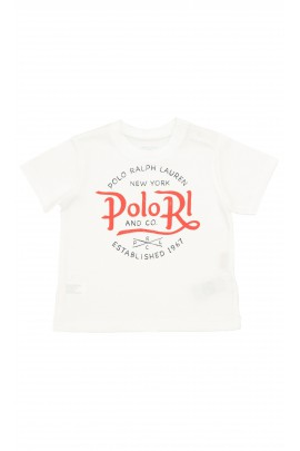 White T-shirt with a red inscription, Polo Ralph Lauren