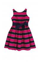 Pink-and-navy blue striped dress, Polo Ralph Lauren