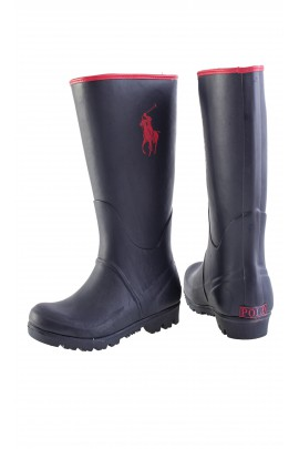Navy blue wellingtons with a big horse, Polo Ralph Lauren