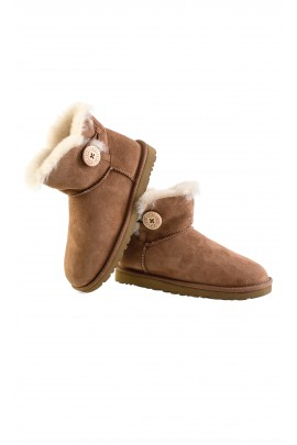 Brown shoes, W MINI BAILEY BUTTON, UGG