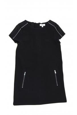Black knitted-fabric dress, Hugo Boss