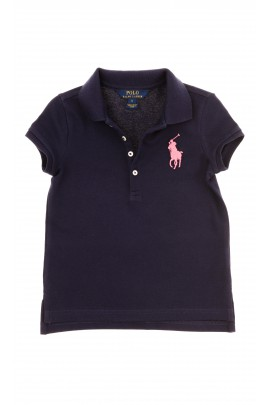 Navy blue girls polo shirt, Polo Ralph Lauren