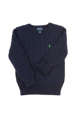 Navy blue braid weave sweater, Polo Ralph Lauren