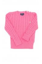 Pink braid weave sweater, Polo Ralph Lauren