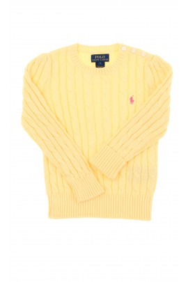 Yellow braid weave sweater, Polo Ralph Lauren