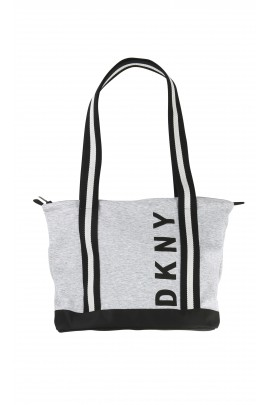 Grey-and-black bag, DKNY