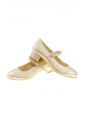 Golden heeled shoes, Monnalisa
