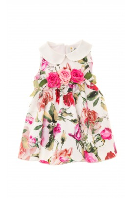 Summer dress with colourful roses, Lesy