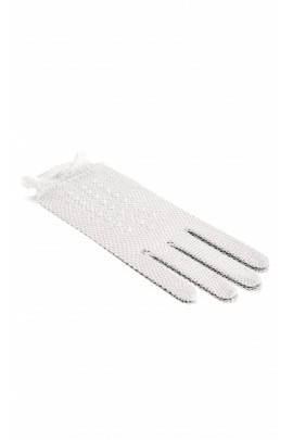 Gloves for the First Communion with pearls, Lesy