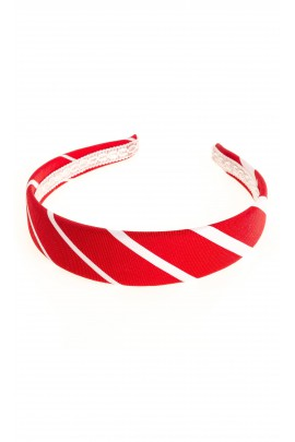 Headband with red-and-white stripes, Colorichiari