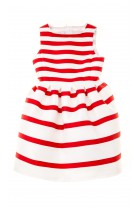 Dress with red-and-white horizontal stripes, Colorichiari
