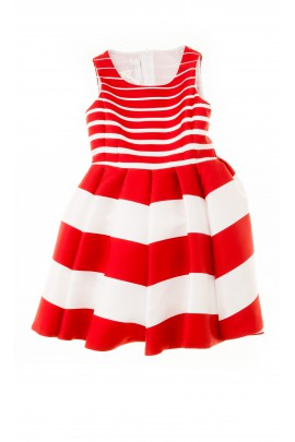 Dress with red-and-white wide stripes, Colorichiari