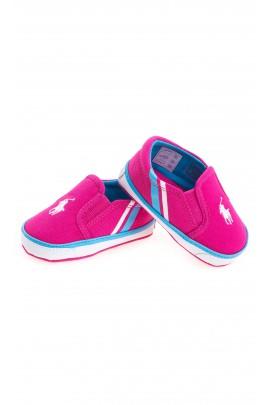 Pink baby plimsolls, Polo Ralph Lauren