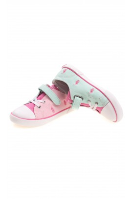 Pastel girls plimsolls, Polo Ralph Lauren