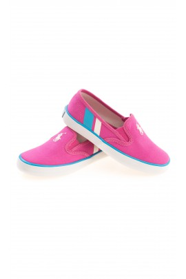 Pink girls plimsolls, Polo Ralph Lauren