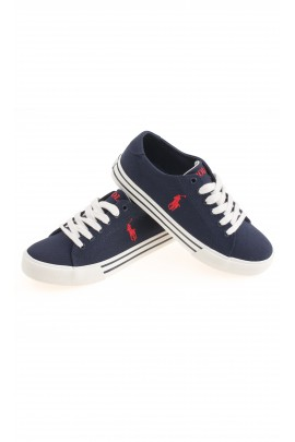 Navy blue laced plimsolls, Polo Ralph Lauren