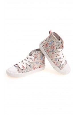 Flowered beige girls trainers, Polo Ralph Lauren